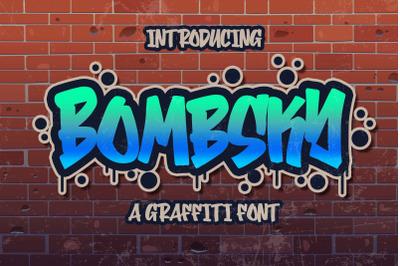 Bombsky Graffity Font