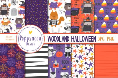 Woodland Halloween paper