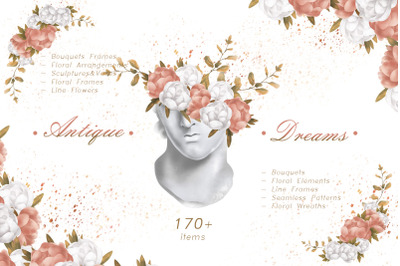 ANTIQUE DREAMS flowers & leaves pack