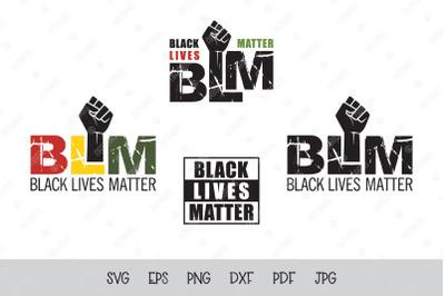 SVG BLM. Black lives matter. Black lives matter fist.