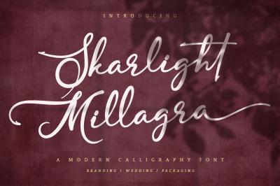 Skarlight Millagra - Beautiful Script Font