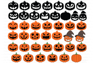 Pumpkin SVG, Jack o' Lanterns SVG, Pumpkins Faces Svg Png.