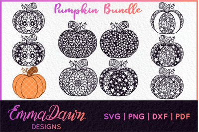 PUMPKIN BUNDLE HALLOWEEN FALL MANDALA ZENTANGLE 10 DESIGN