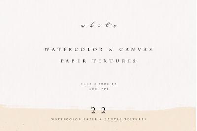 White Watercolor Paper & Canvas Fine Art Set