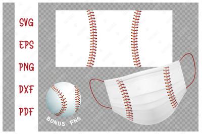 SVG Baseball ball background design for face mask..