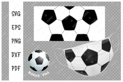 SVG Soccer ball background design for face mask.