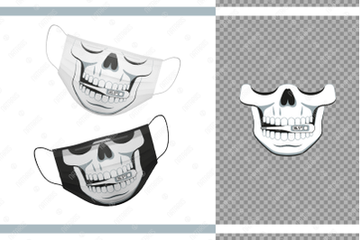 Funny skull design with Thermometer 36,5C for protective face mask.