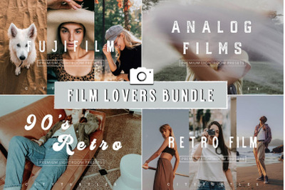FILM LOVERS BUNDLE - Moody Lightroom Presets for Desktop & Mobile