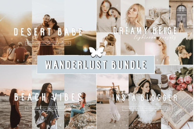 WANDERLUST BUNDLE - Aesthetic Travel Lifestyle Instagram Lightroom Pre