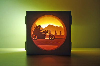 Road Trip Shadow Box - 3d papercraft
