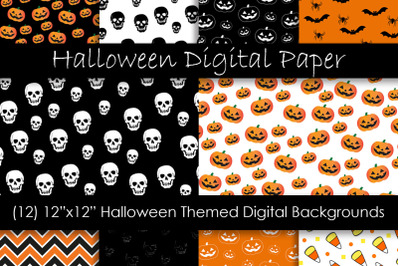 Halloween Patterns & Digital Papers