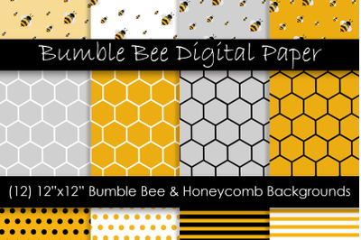 Bumble Bee and Honeycomb Patterns