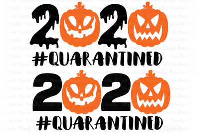 Halloween Quarantined SVG, 2020 Halloween SVG Files.