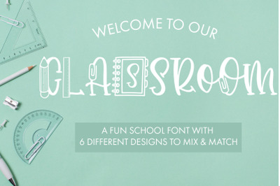 Classroom A Fun School Font With 6 Designs