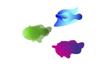 Abstract shape color liquid. Fluid design gradient waves
