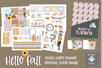 Hello Fall Planner Sticker Bundle