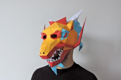 DIY Chinese Dragon Mask - 3d papercraft