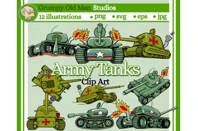 Cartoon Army Tanks
