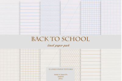 Back to School Lined & Grid Paper Set
