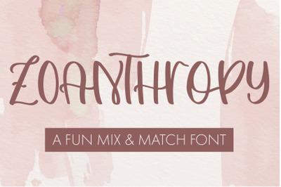 Zoanthropy - A Fun Mix & Match Font