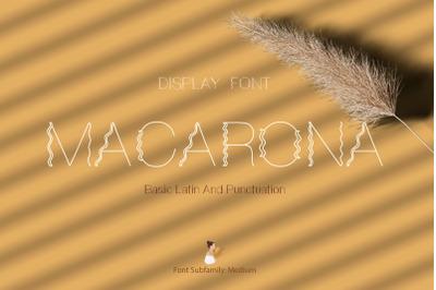 Macarona Font