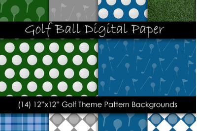 Golf Ball Backgrounds - Golf Theme Papers