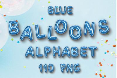 Blue Balloon Alphabet Cliparts