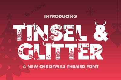 Tinsel & Glitter Christmas Font