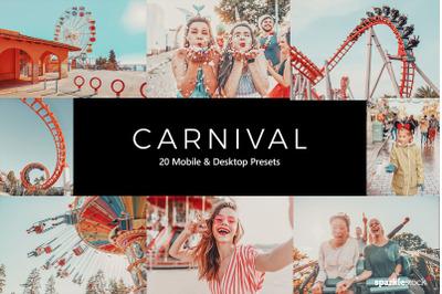 20 Carnival Lightroom Presets & LUTs