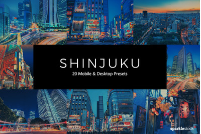 20 Shinjuku Lightroom Presets & LUTs