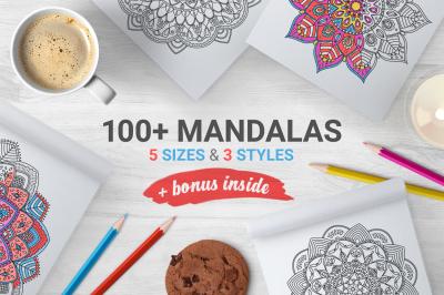 100&2B; Mandalas&2B;Bonus Frames