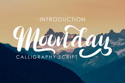 Moonday - Calligraphy Font