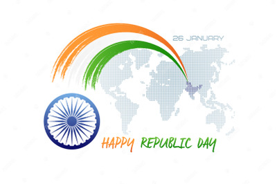January 26. Republic day of India.
