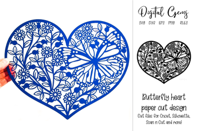 Butterfly heart design