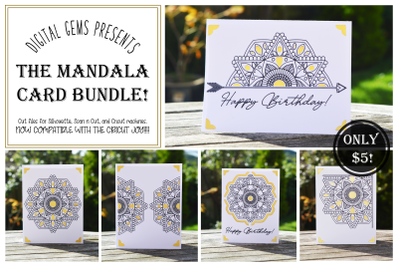 Mandala birthday card designs