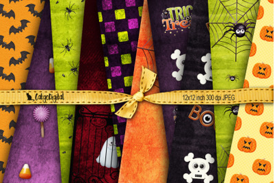 Halloween Patterned Papers Backgrounds
