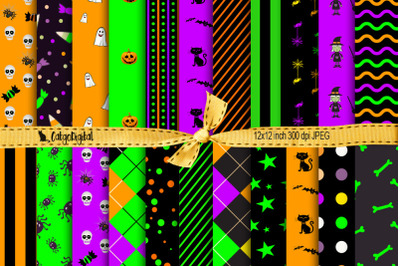 Cute Halloween Scrapbooking Patterned Papers