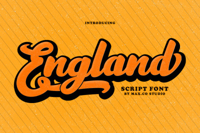 Englant Typeface With Extrude