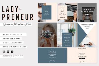 Ladypreneur: Social Media Pack