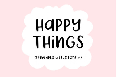 Happy Things   A Hand Drawn Font