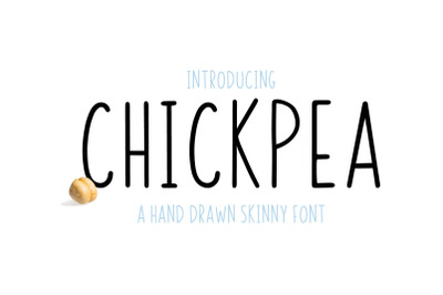 Chickpea   All Caps Skinny Font