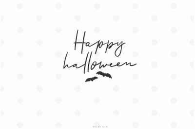 Happy halloween fall quote svg cut file