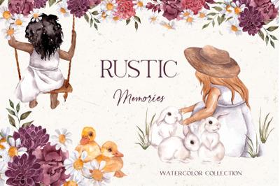 Rustic Memories. Watercolor collection