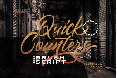 Quick Counters - Brush Script