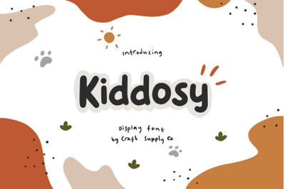 Kiddosy - Playful Display Font