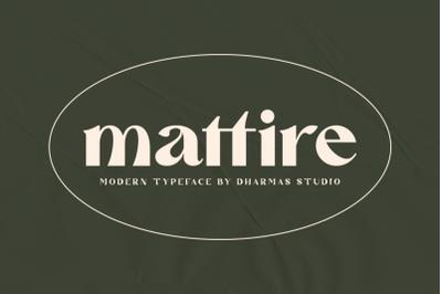 Mattire - Modern Serif Typeface