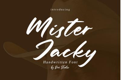 Mister Jacky-Handwritten Font