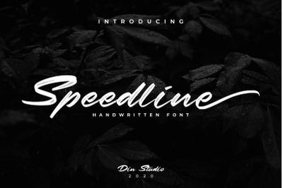 Speedline-Beautiful Brush Font