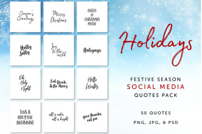 Holidays Social Media Quotes Pack