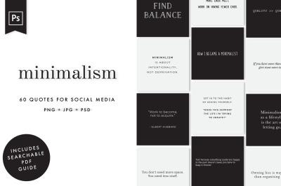 Minimalism Social Media Quotes